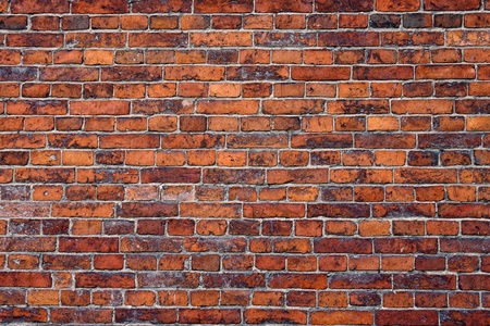 Abstract close-up red brick wall background  Stock Photo