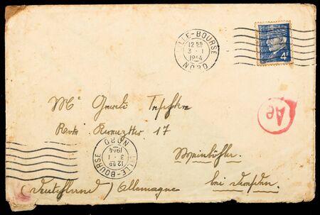 Vintage French mailing envelope Stock Photo - 9342573