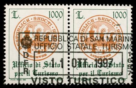 San Marino Customs stamp photo