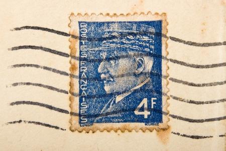 Vintage French postage stamp