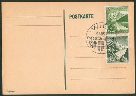 philatelic: Old Post Card Stock Photo