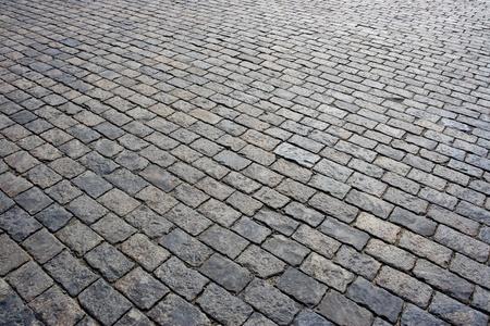 Cobblestone road background