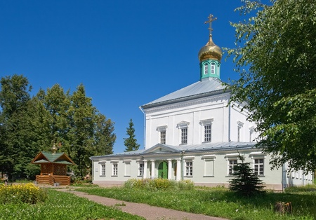 Small Christian orthodox church in Russia photo