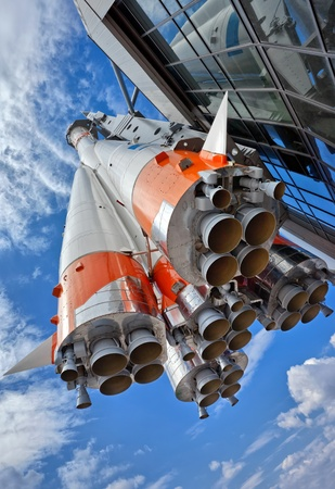 Russian space transport rocket Stock Photo