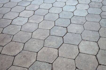 Gray paving stones texture photo