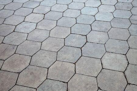 Gray paving stones texture photo