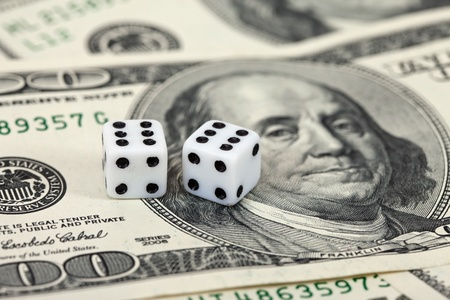 Gaming dice and money Stock Photo - 9807833