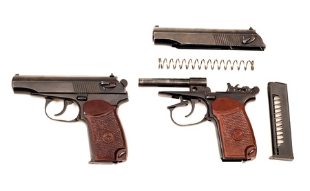 Russian disassembled handgun Stock Photo - 10817452