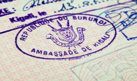 Old passport stamp Stock Photo - 11788427