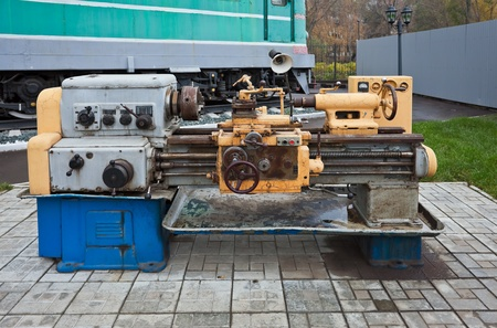 Old turning machine photo