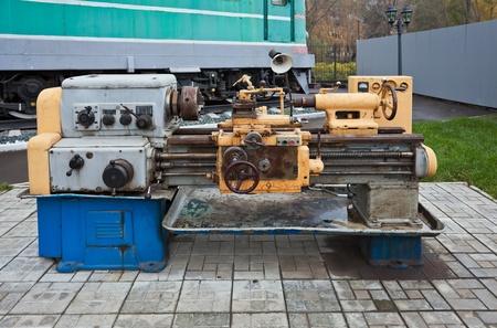 Old turning machine photo
