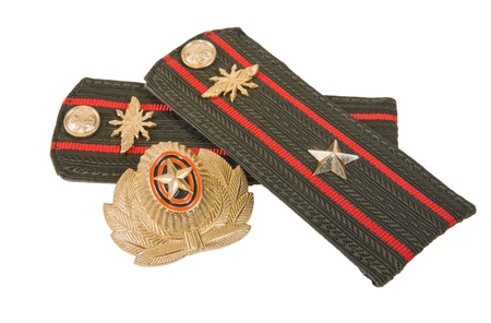 Shoulder straps of russian army on white background Stock Photo - 12167555