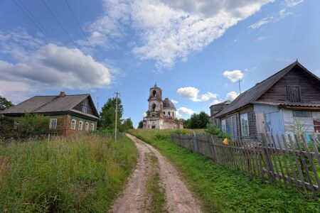 Old deserted church in Novgorod region, Russia photo