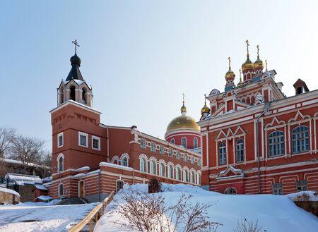 Iversky monastery in Samara, Russia  Winter