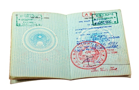 Vietnam passport  Pages for visa marks