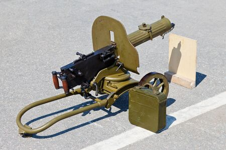 Historical weapon machine gun &quotMaxim&quot photo