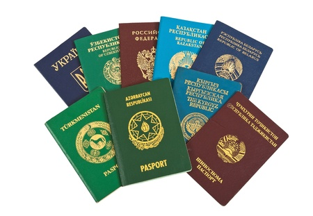 Foreign passports isolated on white  background