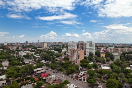 View of the Russian city of Samara in May 2012 photo