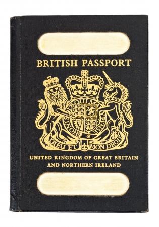 Front shot of old style british passport Stock Photo - 15715882