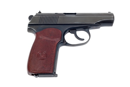 Russian 9mm handgun isolated on white background Stock Photo - 17724778