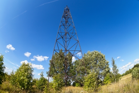 geodetic: Geodetic points in Russia in sunny summer day
