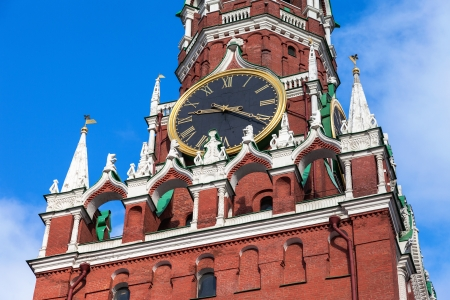 Chimes clock on Spasskaya tower of the Moscow Kremlin Editorial