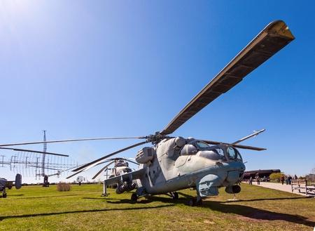 TOGLIATTI, RUSSIA - MAY 2: Military helicopter Mi-24 at the exhibition in the technical museum on May 2, 2013 in Togliatti, Russia