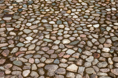Old paved roadway as background Stock Photo - 21945526