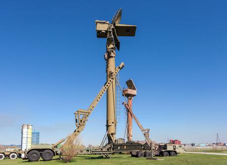 TOGLIATTI, RUSSIA - MAY 2: Military russian 76N6 Clam Shell Low Altitude Acquisition Radar  at Technical  Museum on May 2, 2013 in Togliatti, Russia