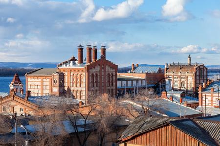 View on Zhiguli Brewery in Samara, Russia.  Stock Photo - 27442742