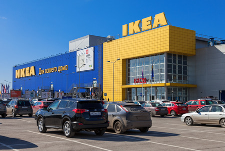 SAMARA, RUSSIA - APRIL 19, 2014  IKEA Samara Store  IKEA is the world s largest furniture retailer and sells ready to assemble furniture  Founded in Sweden in 1943 Editorial