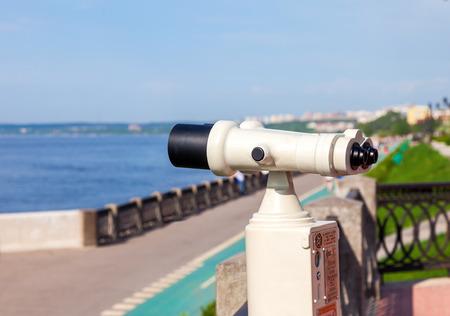 Coin Operated Binocular on the bank of river Volga in Samara photo