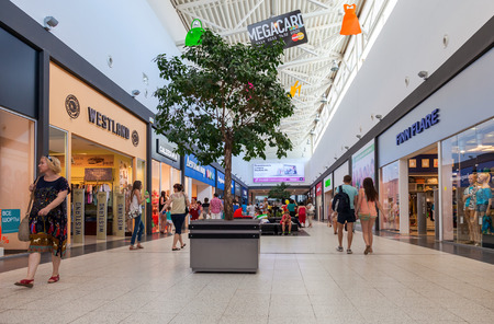 family owned: SAMARA, RUSSIA - JUNE 1, 2014: Inside of the Samara hypermarket Mega. MEGA The Family Shopping Centre is a chain of shopping centres in Russia owned and operated by IKEA