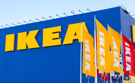 SAMARA, RUSSIA - SEPTEMBER 6, 2014: IKEA Samara Store. IKEA is the worlds largest furniture retailer and sells ready to assemble furniture. Founded in Sweden in 1943