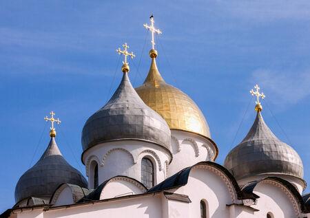 Saint Sophia cathedral in Kremlin, Great Novgorod, Russia photo
