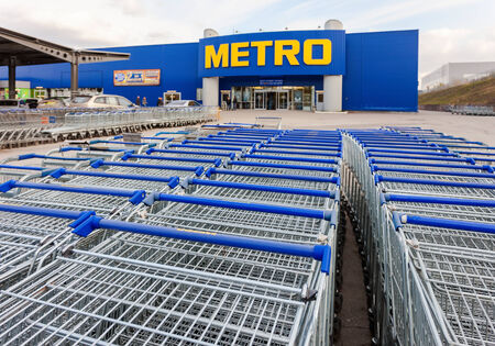 diversified: SAMARA, RUSSIA - OCTOBER 4, 2014: METRO Cash & Carry Samara Store. Metro Group is a German global diversified retail group based in Dusseldorf Editorial