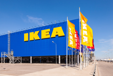 ikea: SAMARA, RUSSIA - APRIL 19, 2014: IKEA Samara Store. IKEA is the worlds largest furniture retailer and sells ready to assemble furniture. Founded in Sweden in 1943 Editorial