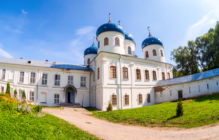 St. Georges Monastery in Veliky Novgorod, Russia photo
