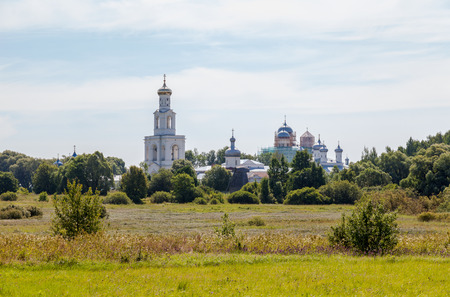 View on the St. Georges Monastery in Veliky Novgorod, Russia photo