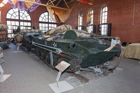 tracked: TOGLIATTI, RUSSIA - MAY 2, 2013: The BMD-1 is a Soviet airborne amphibious tracked infantry fighting vehicle (Combat Vehicle of the Airborne) in Togliatti Technical museum
