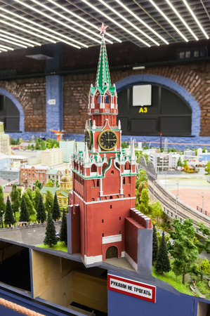 approximation: ST PETERSBURG, RUSSIA - AUGUST 8, 2014: Fragment of national museum Grand Maket Rossiya. Is the largest layouts in Russia and the second largest in the world. Opened in 8 July, 2012