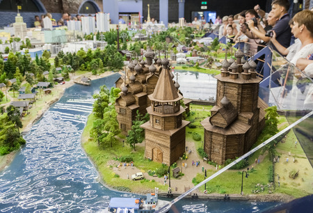 ST PETERSBURG, RUSSIA - AUGUST 8, 2014: Fragment of national museum Grand Maket Rossiya. Is the largest layouts in Russia and the second largest in the world. Opened in 8 July, 2012