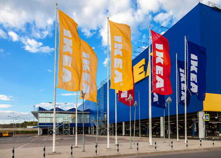 ikea: SAMARA, RUSSIA - SEPTEMBER 6, 2014: IKEA Samara Store. IKEA is the worlds largest furniture retailer and sells ready to assemble furniture. Founded in Sweden in 1943 Editorial