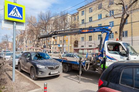 evacuation: SAMARA, RUSSIA - MAY 1, 2015: Evacuation vehicle for traffic violations
