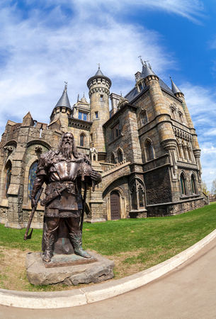 garibaldi: SAMARA, RUSSIA - MAY 3, 2015:Tourist center Castle Garibaldi in the village Hryaschevka, Samara region, Russia