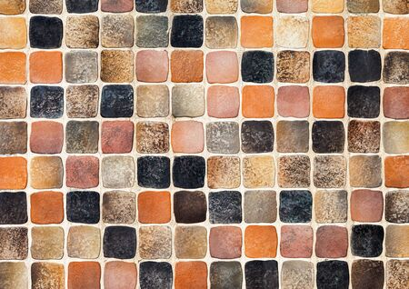 mosaic floor: Ceramic glass colorful tiles mosaic composition pattern  Stock Photo