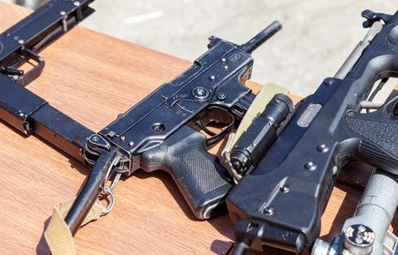 firearms: SAMARA, RUSSIA - MAY 30, 2015: Russian firearms. Submachine gun Kedr
