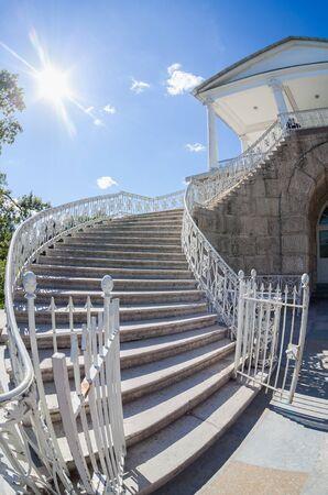 tsarskoye: Stairs to the Cameron Gallery of the Catherine Palace at Tsarskoye Selo (Pushkin), St. Petersburg, Russia