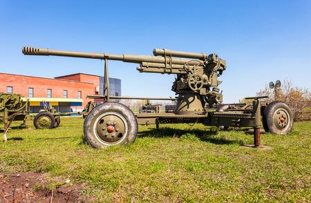 TOGLIATTI, RUSSIA - MAY 2, 2013: Anti-aircraft gun model 1939 (52-K) in Togliatti technical museum in sunny day