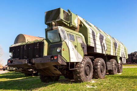 wheeled tractor: TOGLIATTI, RUSSIA - MAY 2, 2013: Heavy army wheeled tractor at the technical museum in Togliatti, Russia